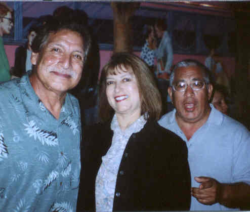 FARMER JOHN....I'M IN LOVE WITH YOUR DAUGHTER Chicano Magazine's Linda Salceda with John Perez of The Premiers, and Chicano producer and legend Billy Cardenas